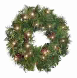 Artificial Winter Glow Wreath